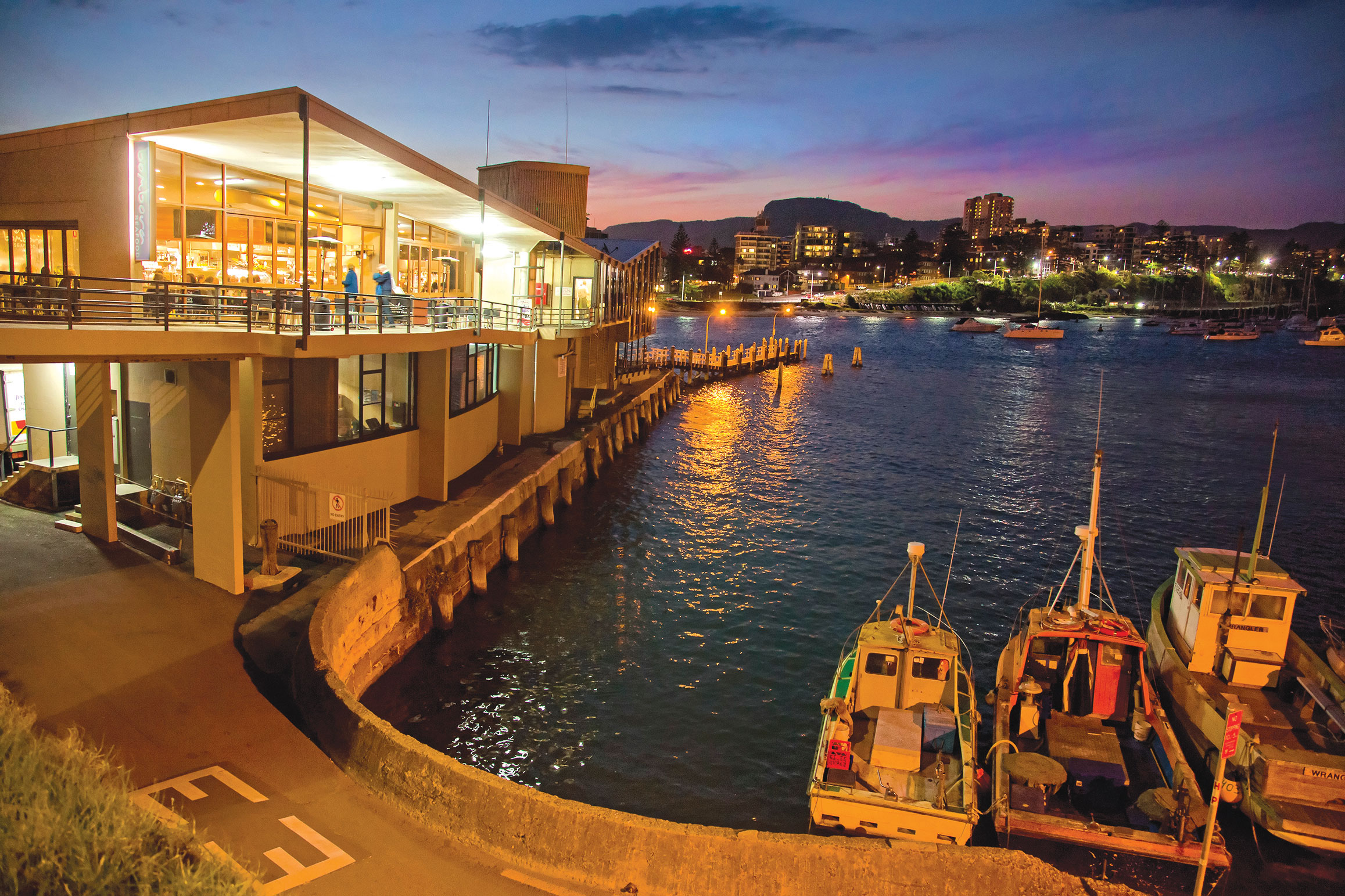 Harbourfront resturant and Belmore Basin